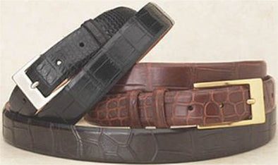 "1.25"" Wide Matte Alligator Belts"