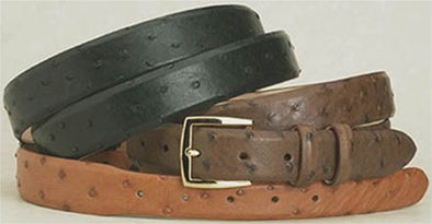 "1.25"" Wide Ostrich Belts Tapered to 1"""