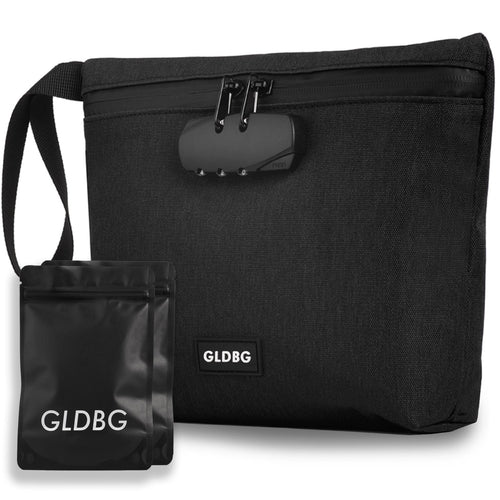 GLDBAGS® - Smell Proof Stash Bag with Lock