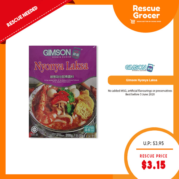 GIMSON Nyonya Laksa Premix (Best Before: 05 Jun 2020)
