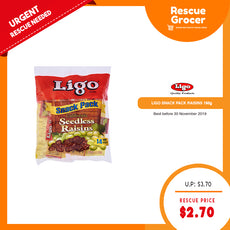 Ligo Snack Pack Raisin 198g (Best Before: 30 Nov 2019)