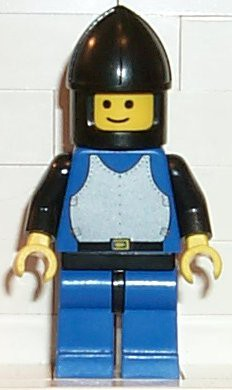 Breastplate - Blue with Black Arms, Blue Legs with Black Hips, Black Chin-Guard