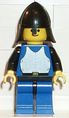 Breastplate - Blue with Black Arms, Blue Legs with Black Hips, Black Neck-Protector
