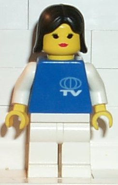 TV Logo Small Pattern, White Legs, Black Female Hair