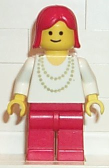 Necklace Gold - Red Legs, Red Female Hair