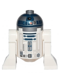 R2-D2 (Flat Silver Head, Dark Blue Printing, Red Dots)