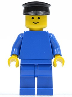 Plain Blue Torso with Blue Arms, Blue Legs, Black Hat
