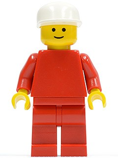 Plain Red Torso with Red Arms, Red Legs, White Cap