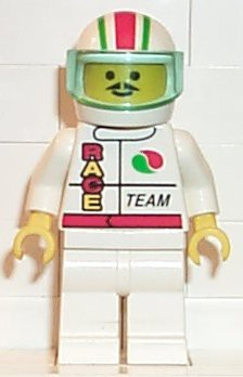 Octan - Race Team, White Legs, White Red/Green Striped Helmet, Trans-Light Blue Visor
