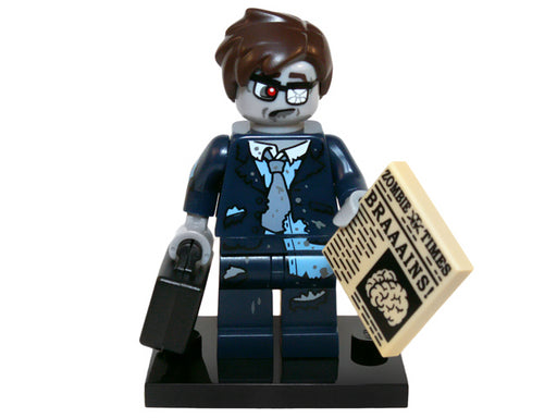 Zombie Businessman, Series 14 (Complete Set with Stand and Accessories)