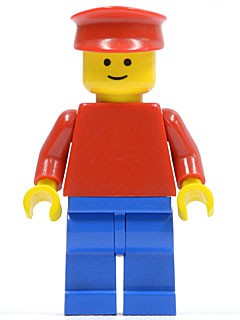 Plain Red Torso with Red Arms, Blue Legs, Red Hat