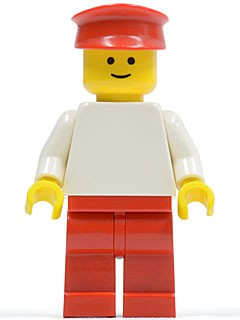 Plain White Torso with White Arms, Red Legs, Red Hat