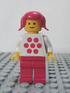 Idea Book 6000 - Mary - White Torso with Red Dots, Red Legs, Red Pigtails Hair