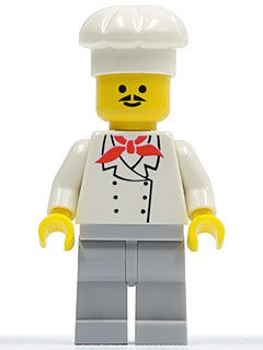 Chef - Light Bluish Gray Legs, Moustache