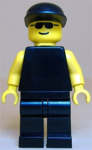 Plain Black Torso with Yellow Arms, Black Legs, Sunglasses, Black Cap