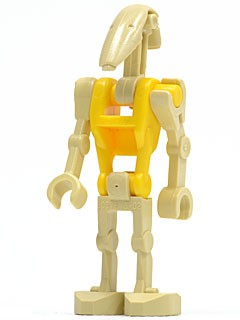 Battle Droid Commander with Straight Arm and Yellow Torso