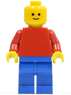 Plain Red Torso with Red Arms, Blue Legs (Lego Universe Bob)