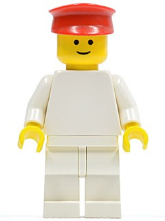 Plain White Torso with White Arms, White Legs, Red Hat