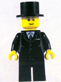 Suit Black, Top Hat, Black Legs (9349)