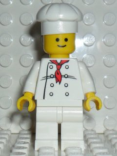 Chef - White Torso with 8 Buttons, White Legs, Standard Grin