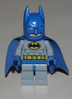 Super Heros 111 Batman - Light Bluish Gray Suit with Yellow Belt and Crest, Blue Mask and Cape