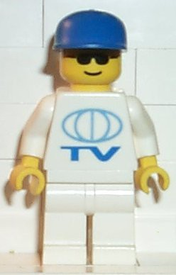 TV Logo Large Pattern, White Legs, Blue Cap
