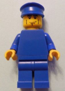 Plain Blue Torso with Blue Arms, Blue Legs, Blue Hat