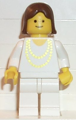 Necklace Gold - White Legs, Brown Female Hair