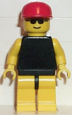 Plain Black Torso with Yellow Arms, Yellow Legs, Sunglasses, Red Cap