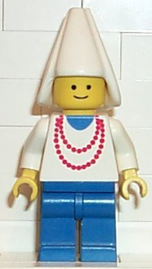 Maiden with Necklace - Blue Legs, White Cone Hat (6023)