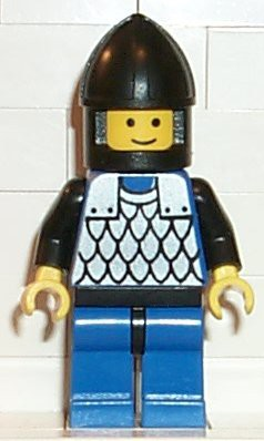 Scale Mail - Blue, Blue Legs with Black Hips, Black Chin-Guard
