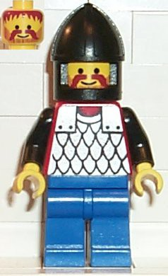 Scale Mail - Red with Black Arms, Blue Legs, Black Chin-Guard