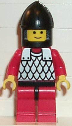Scale Mail - Red with Red Arms, Red Legs with Black Hips, Black Chin-Guard