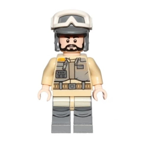Rebel Trooper, Goggles, Gray Helmet, Black Beard (Private Kappehl) (75164)