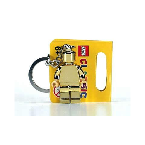 Porte Clés Minifigurine Chrome Gold