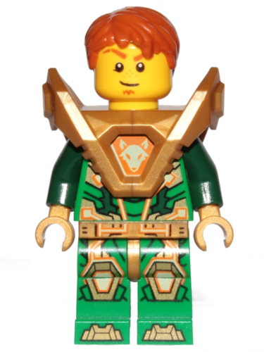 Nexo Knight 144 Aaron - Pearl Gold Armor, Hair