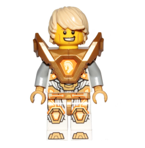 Nexo Knight 146 Lance - Hair, Pearl Gold Armor