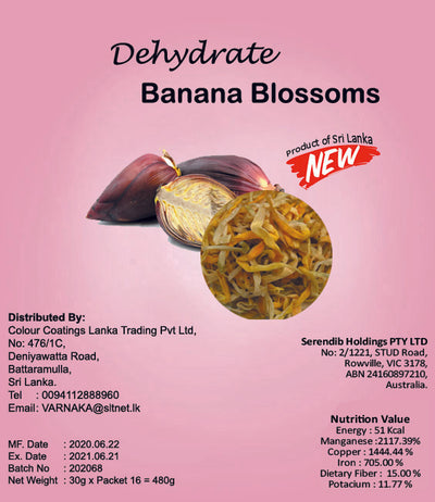 Dehydrated Banana Blossom