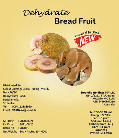 Dehydrated Bread Fruit