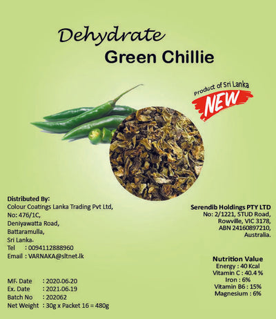 Dehydrated Green Chilli
