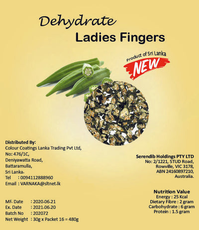 Dehydrated Ladies Fingers