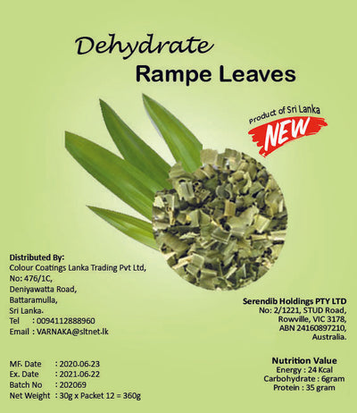 Dehydrated Rampe Leaves