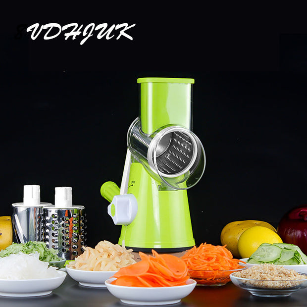 Multifunctional Slicer Manual Drum Vegetable Shredder Potato Julienne Carrot Cheese