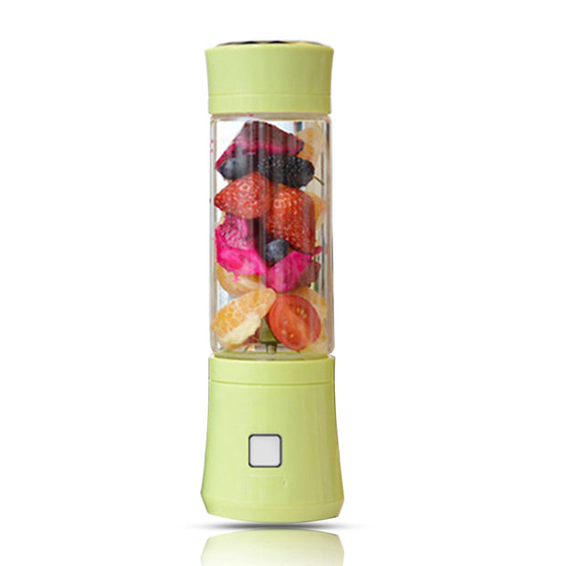 480ml USB Mini Blender Glass Bottle Juicer 6 Blades Portable Fruits Mixer Meat Grinder Juice Maker Machine Drop Shipping