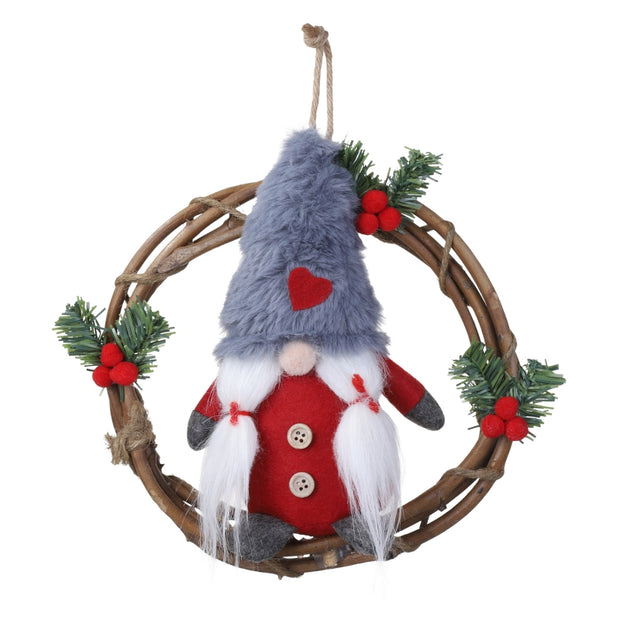 Christmas Handmade Swedish Stuffed Toy Santa Doll