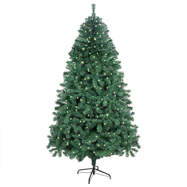 7ft/210cm Big LED Artificial Christmas Tree with 400pcs Lights 1300pcs Branches