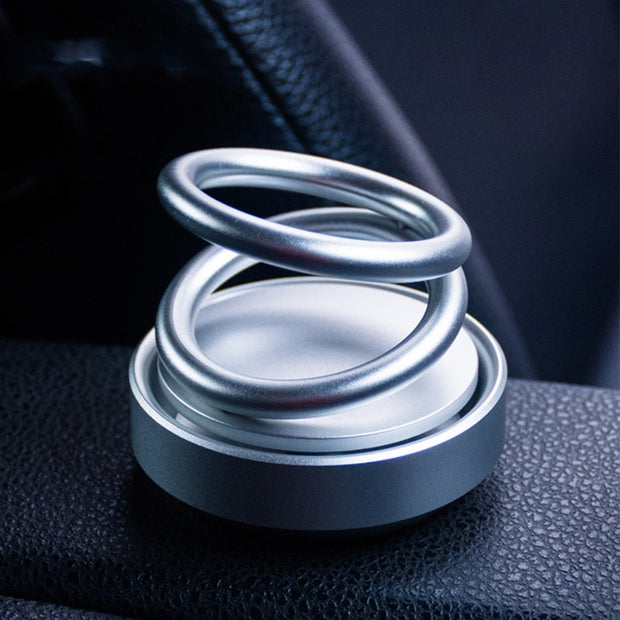 360° Suspension Rotation Creative Double Ring Rotating Car Air Freshener Perfume Air Freshener Car Fragrance Car Accessories