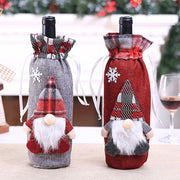 Christmas Wine Bottle Decor Set