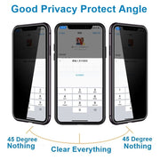 Magnetic Tempered Glass Privacy Metal Case Coque 360 Magnet Antispy Cover For Samsung