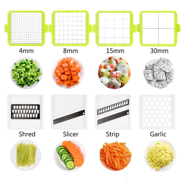 Quick Vegetable Dicer Set Onion Mushroom Tomato Slicer Kitchen Vegetable Slicer Stainless Steel Vegetable Cutter